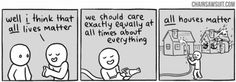 digital-femme: Comic strip by Kris Straub | This is what I think of when you say you're egalitarian, but not feminist.
