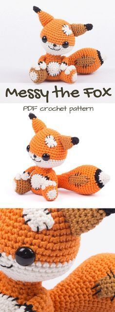 how cute is this patchwork fox amigurumi pattern? Adorable little twist on a fox crochet pattern to download. Such a lovely handmade gift idea. Would make a great toy to add to a child's stuffed animal collection!