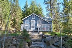 Cute little cabin on 1/2 acre in Union, Oregon right next to a creek! LOVE!