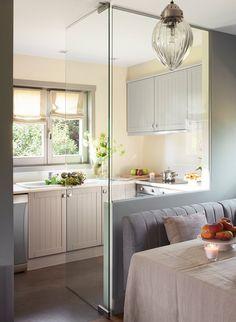Idea para tener una cocina abierta al comedor y salón pero sin olor a comida... Casa en la Cerdanya
