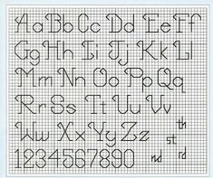 64 Best backstitch alphabets images in 2017 | Cross Stitch Letters