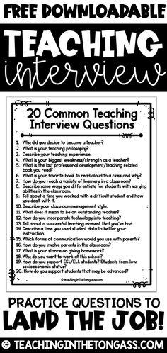 Teaching Interview Questions, Teacher Job Interview, Teacher Interviews, Job Interview Tips, Teaching Resume, Teaching Jobs, Student Teaching, College Teaching, Teaching Outfits