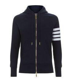 Thom Browne Striped Zip-Up Hoodie