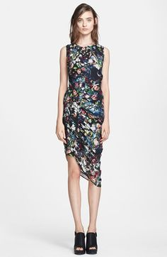 McQ by Alexander McQueen Festival Floral Smocked Silk Dress available at #Nordstrom