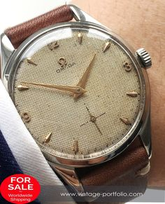 Vintage Watches Collection : Omega Rare Oversize Jumbo Honeycomb Vintage - Watches Topia - Watches: Best Lists, Trends & the Latest Styles Retro Watches, Old Watches, Vintage Watches, Watches For Men, Omega Railmaster, Omega Planet Ocean, Omega Seamaster Automatic, Omega Geneve, Vintage Omega
