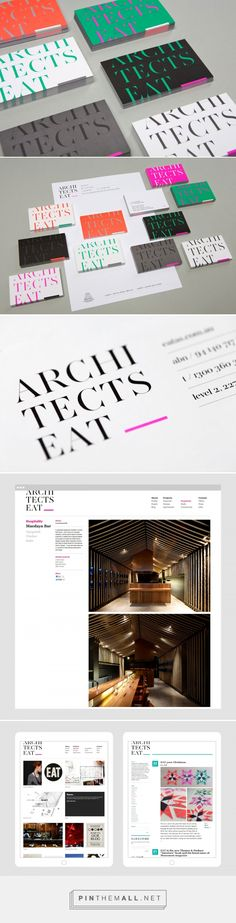 Logo and branding for Architects Eat, an award winning architecture firm based in Melbourne. Designed by Hue Studio