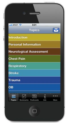 Topics are color coded to allow better functionality.