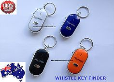 Whistle Sound Beep Key Finder LED Flash Remote Find Keyring Chain Locator Alarm