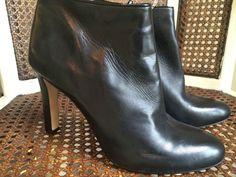 NEW $98 Antonio Melani Black Leather Bootie 8.5M  #AntonioMelani #Booties #Casual