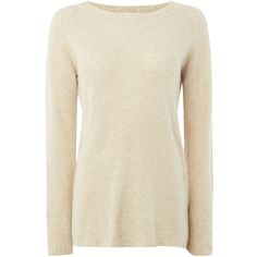 La Fee Maraboutee Crew-Neck Jumper ($71) ❤ liked on Polyvore featuring tops, sweaters, beige, clearance, brown sweater, jumper top, beige sweater, lace sweater and brown crew neck sweater