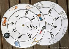Free Wh- digraph word wheel for some quick reading practice!