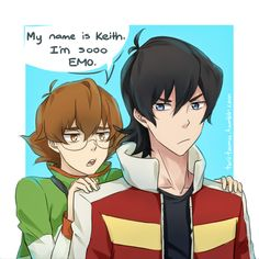 I'm so Emo- Keith and Pidge from Voltron Legendary Defender