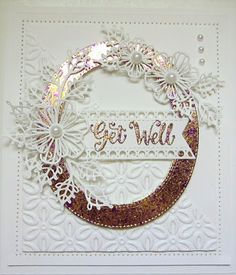 PartiCraft (Participate In Craft) Sue Wilson Dies, Happy Everything, Dry Well, Paper Crafts, Diy Crafts, Oval Frame, Flag Decor, Get Well Cards, Quilted Pillow