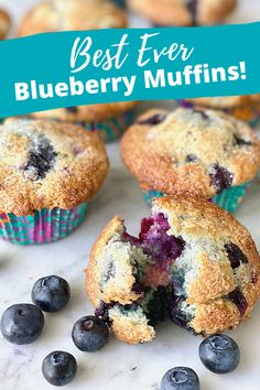 isn't it time you baked the Best Blueberry Muffins EVER? This recipe rocks! #blueberrymuffins #bestmuffins #bestblueberrymuffins #blueberries #muffins | QuicheMyGrits.com Blueberries Muffins, Best Blueberry Muffins, Blue Berry Muffins, Summer Desserts, Easy Desserts, Dessert Recipes, Dessert Ideas, Catering Food, Catering Recipes