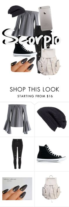 """""""~Scorpio's School Outfit~"""" by enchantedaxe ❤ liked on Polyvore featuring Chicwish, Caslon, River Island and Converse"""