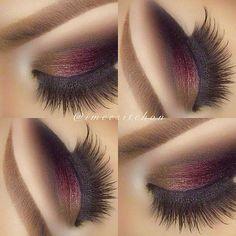 Cute eye make up Gorgeous Makeup, Love Makeup, Makeup Inspo, Makeup Inspiration, Beauty Makeup, Makeup Ideas, Red Makeup, Glamorous Makeup, Beauty Tutorials