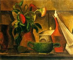Pablo Picasso. Still life with flowers, 1908