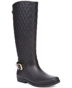 c5610550bb38 GUESS Women s Lulu Rain Boots Shoes - Boots - Macy s