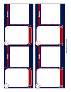 Decorated With Red White Blue And Baseballs These Baseball Card Templates Allow