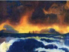Nolde, tempête sur la mer