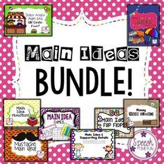 Main Idea BUNDLE - help your speech and language students comprehend am idea.