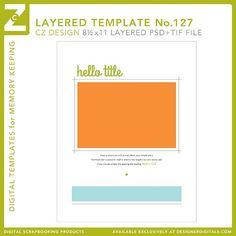 Cathy Zielske's Layered Template No. 127 - Digital Scrapbooking Templates - Cathy Zielske