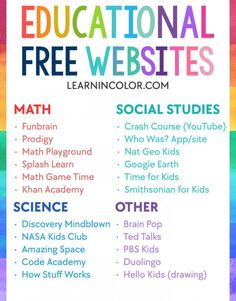 Free Activities to Parents During School Closures. Most Beautiful Free Activities to Parents During School Closures. Updated Line Resources to Help Parents Amuse Educate Educational Websites For Kids, Free Learning Websites, Educational Crafts, Fun Websites For Kids, Kindergarten Websites, Apps For Teachers, Educational Leadership, Educational Technology, Home Learning