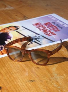 Thick Amber Sunglasses with Grey Lens