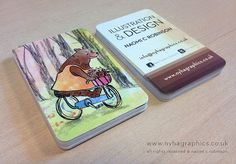 Illustrators Business Cards, via Flickr. She made this amazing MooCards that I LOVE