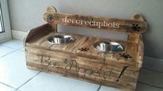 support a gamelle inox pour chien et chat : Animaux par decorecupbois85