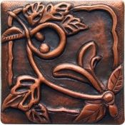 Copper tile Choose from over 98 copper tile patterns, 8 patina finishes and 3 lacquer finishes! Copper Work, Copper Decor, Style Tile, Arts And Crafts Movement, Tile Art, Craftsman Style, Tile Patterns, Metal Working, Art Deco