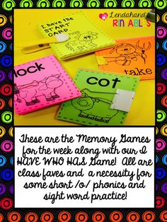 Reading Street's, THE BIG BLUE OX, Memory Games by Lendahand's Printables!  My kids love these weekly games.  They are always relevant because we are covering the phonics and sight words for the week!  E-Z-P-Z as far as teacher prep, but big on learning power!