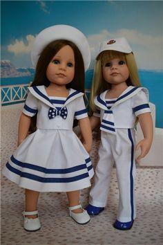 """""""Морская прогулка"""" - костюмы для девочек и мальчиков Готц и не только / Одежда и обувь для кукол - своими руками и не только / Бэйбики. Куклы фото. Одежда для кукол"""