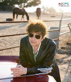 Celebrity Bob Dylan wearing a Bolo Tie. A+B BLOG – Above and BOLO