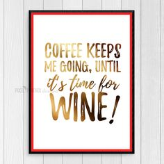 Coffee keeps me going JPG print files, 8.5x11 inches, 300 DPI, CMYK, Black and White, Digital artwork, Wall Art Quotes, Inspirational Print by pixelphoenixdesigns on Etsy