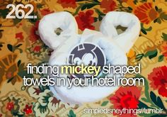 Finding Mickey shaped towels in your hotel room