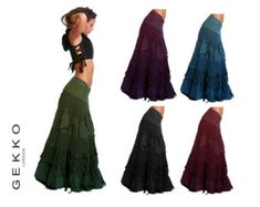 FLAMENCO SKIRT wrap Skirt GYPSIE skirt long by GekkoBoHotique