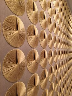 Amazing textile artist Sheila Hicks returns to New York City's Ford Foundation to replace a series of sublimely modernist wall hangings.