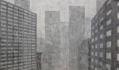 The City V (SOLD) acrylic on canvas, 50x100cm, 2014y.