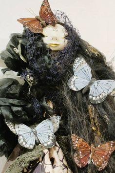 """Art doll by Tuija Leinonen, called """"Runsauden antaja"""" (Abundance Giver)"""