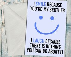 Funny brother/ sister birthday card. Happy by BettieConfetti