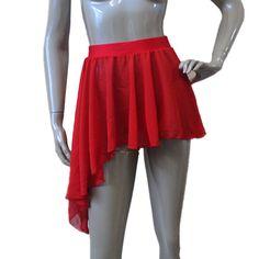 NWOT 6 inch fringe skirt foil spandex band Dance costume item girls szs