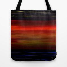 The Brilliant Ocean Sunset Seascape Tote Bag #art #design #bag #bags #fashion #women #ocean #nature #sea #seascape