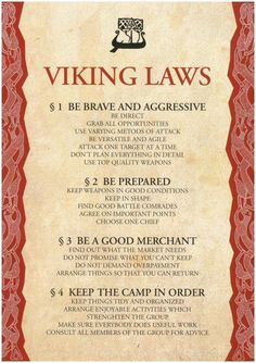 Viking Laws. Them vikings was on to something.
