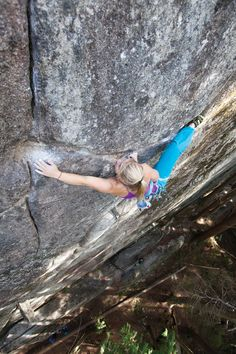 Hazel Findlay on Adder Crack, her 5.13c R first ascent in Squamish, BC, Canada photo: Paul Bride