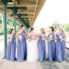 We are loving these ladies in lavender at this Bristol Train Station wedding! Don't you just love a historic venue choice? Click the image to learn more. Photo credit: The Bristol Train Station
