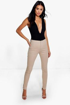 boohoo Lara High Rise Tube Jeans | #Chic Only #Glamour Always