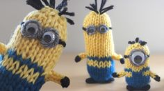 How to Knit a Minion with Free Pattern + Video Tutorial by Studio Knit