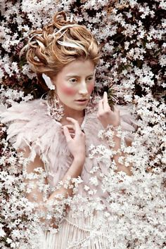 floral fashion shoot, so delicate.