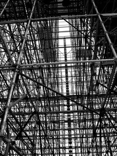 The Scaffolding. Berlin By Jürgen Bürgin. Berlin, Scaffolding, Digital Photography, Black And White Photography, Twitter, Utility Pole, Photographs, Photos, Construction